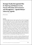 Strategic Faculty Management Plan for Teaching and Research